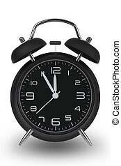hände, schwarz, uhr, minuten, 12, 5, kassa, alarm