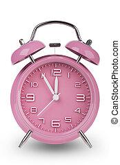 hände, uhr, minuten, 12, 5, kassa, rosa, alarm