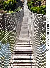 hängebrücke, netz, aufhängung