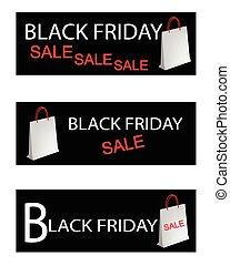 hänger lös, inköp, fredag, papper, svart, speciell