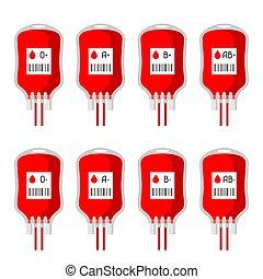 hänger lös, olik, sätta, donation, blod maskinskriver