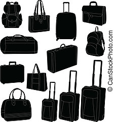 hänger lös, resa, suitcases