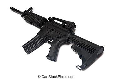 här, weapon., oss, speciell tvingar, m4a1, rifle.