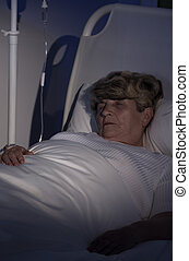 härbärge, kvinna, äldre