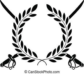 härlighet, av, cavalry., stencilera