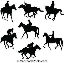 hästar, ridande