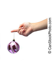 hålla lämna, a, jul ornament