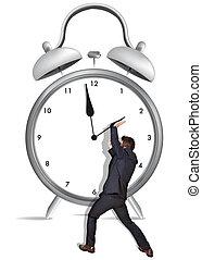 hålla, tid