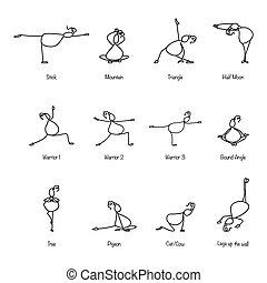 hånd, affattelseen, beklæde, cartoon, yoga, by, graviditet