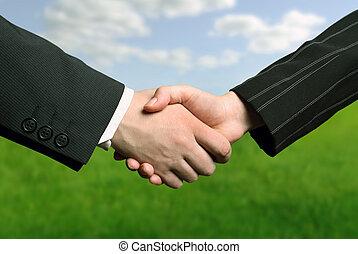 hånd, firma, omryste