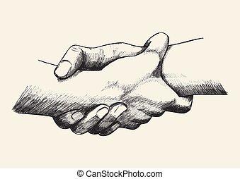 hånd ind hånd