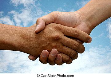 hånd ryst