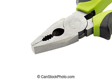 hånd værktøj, isoleret, på, en, hvid baggrund