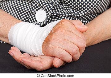håndled, kvæstelse