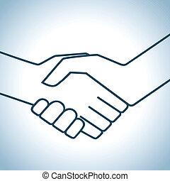 håndslag, grafik