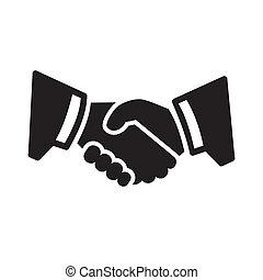 håndslag, ikon