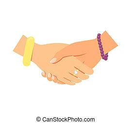 håndslag, kvinder branche