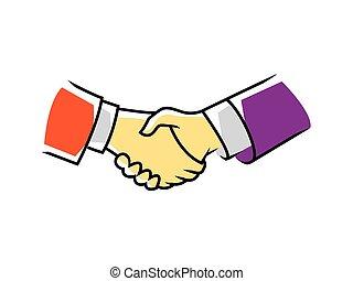 håndslag, symbol
