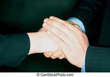 håndslag, varm