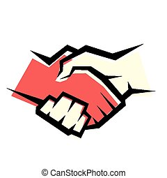 håndslag, vektor, symbol