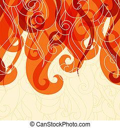 hår, abstrakt, lockar, waves., bakgrund