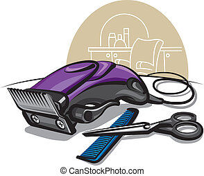 hår, klippare
