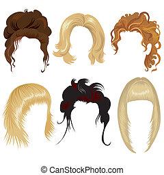 hår, kvinde, formgivning
