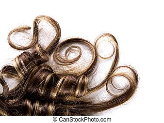 hår, länge