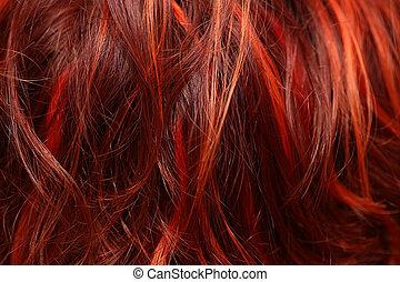 hår, närbild