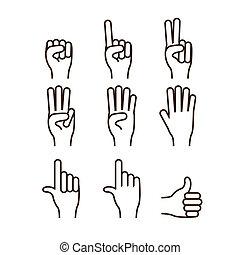 hænder, gestus