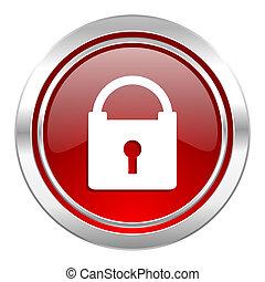 hængelås, ikon, secure, tegn