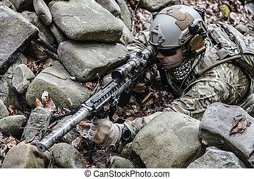 hær, ranger, snigskytte