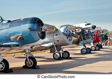 hélice, vieux, avions