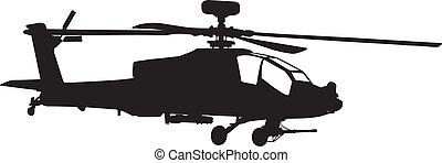 hélicoptère, apache