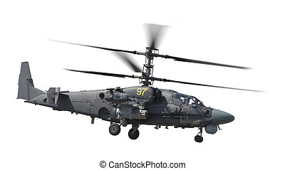 hélicoptère, attaque, isolé