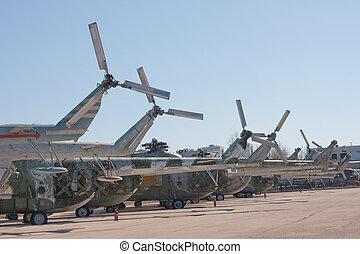 hélicoptère, attaque, soviétique