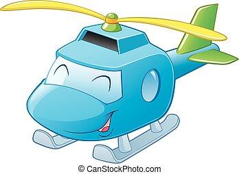 hélicoptère, dessin animé