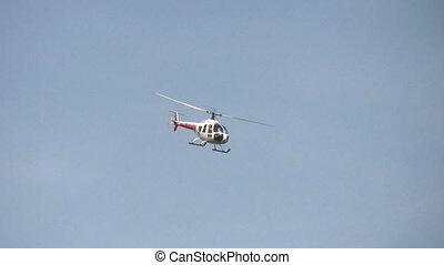 hélicoptère, rouleau