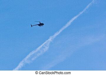 hélicoptère, secourir mission, (2)