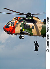 hélicoptère, secours