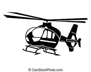 hélicoptère, symbole