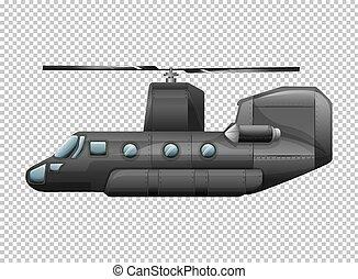 hélicoptère, transparent, fond