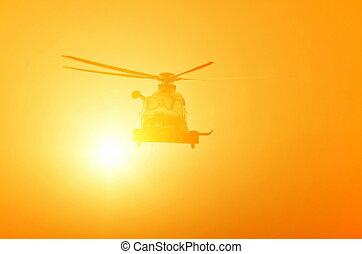 hélicoptère, vol