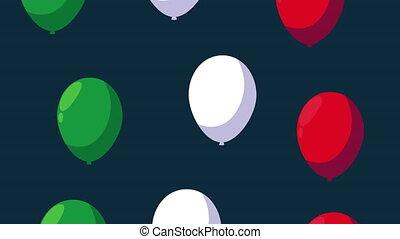 hélium, mexique, célébration, animation, couleurs, mexicain...
