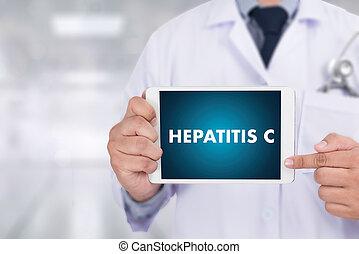 hépatite, rapport, docteur médical, composition, c, concept, medicaments