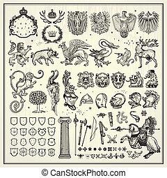 héraldique, éléments, conception