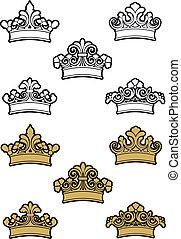 héraldique, couronnes