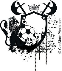 héraldique, football, crest9, lion