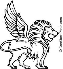 héraldique, lion