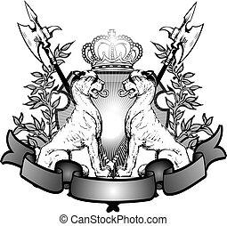 héraldique, lions